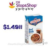 More Swanson? Swanson Broth only $1.49 at Stop & Shop! (3/31/17-4/6/17)