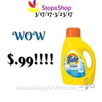 Hot Deal! Simply Tide Detergent only $.99 at Stop & Shop!(3/17/17-3/23/17)