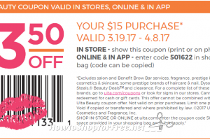 Grab a $3.50 off $15 ULTA Purchase Coupon! ~Through 4/8