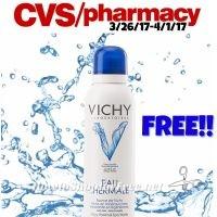 WOW Free Vichy Thermal Spa water CVS (3/26/17-4/1/17)