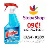 Windex only $.09 After Gas Points at Stop & Shop!