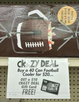 $10 Football Cooler (Holds 40 cans!) at Job Lot! ~Unadvertised