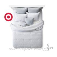 50% OFF Stitched Geo Pattern Comforter Set (King) at Target!