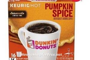 61% off DD Pumpkin Spice K-Cups (16ct) w/ Clearance+Coupon!