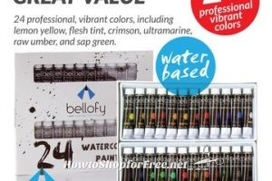 60% OFF 24-Color Watercolor Paint Set on Lightning Deal! ~Only $7.99!!!