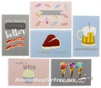 48 Funny Greeting Cards + Envelopes UNDER $10!