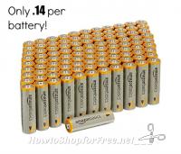 Wow, 100-pack AmazonBasics AA Batteries UNDER $14!
