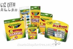 Crayola Back To School Pack ONLY $8.00 ~Fun for Summer Crafts!