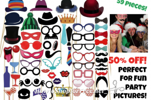 59pc. Photo Booth Props for $10! ~Fun for Grad Parties, Weddings & More!