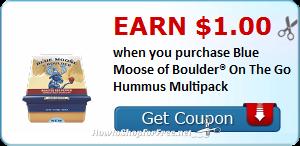 Blue Moose of Boulder® On The Go Hummus ~Cash Back!