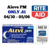 Aleve PM ONLY .81 at Rite Aid 04/30 ~ 05/06!