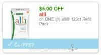 **NEW Printable Coupon** $5.00 off one alli