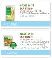 **NEW Printable Coupons** 2 Buitoni Coupons Pre-Clipped for You!