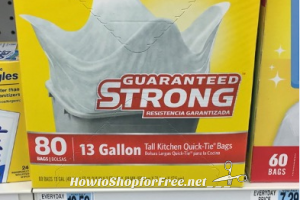 Glad 80-Count Trash Bags, Only $3.99 at Rite Aid 4/9 – 4/15