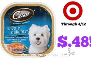 Cesar Wet Dog Food Trays only $.48 at Target through 4/12!