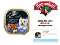 Cesar Dog Food Single Trays ONLY 50¢ at Hannaford Through 05/06!