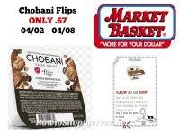 Chobani Flips Greek Yogurt ONLY .67 at Market Basket 04/02 ~ 04/08!