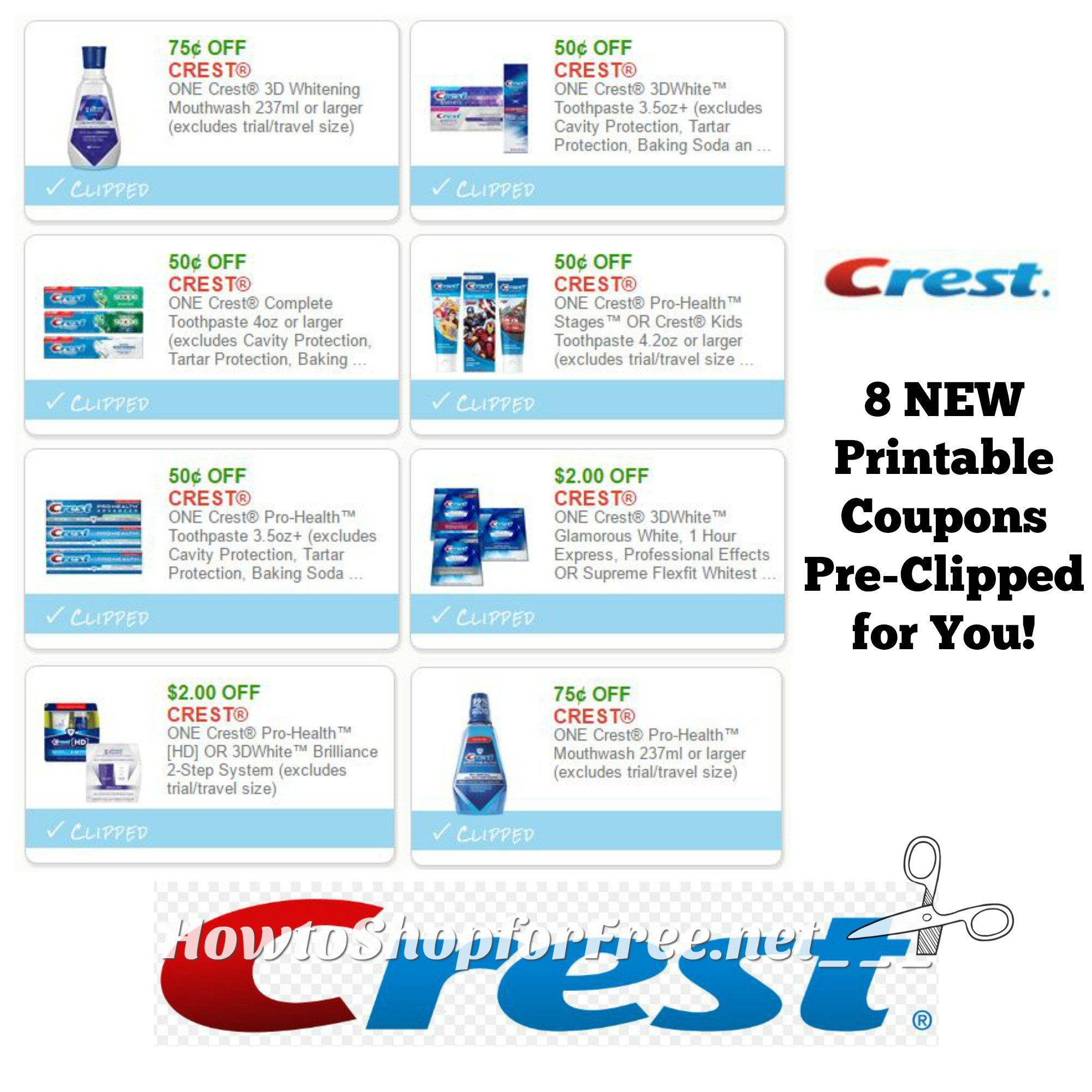 photograph relating to Crest Printable Coupons identify Clean Printable Discount coupons** 8 Crest Coupon codes Pre-Clipped for Your self