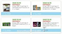 **NEW Printable Coupon** 4 Depend Coupons Pre-Clipped For You!