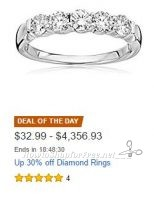 **Amazon Deal of the Day** Up to 30% off Diamond Rings!