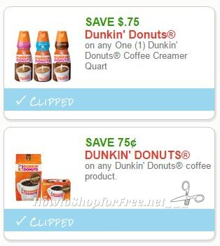 Dunkin donuts printable coupons
