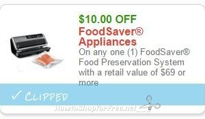 Be Sure to Print FoodSaver Savings!