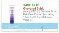 **NEW Printable Coupon** $2.00 off one Giovanni 2chic