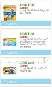 photo relating to Glad Trash Bag Printable Coupons identified as Fresh new Printable Coupon codes** 3 Satisfied Trash Bag Discount codes Pre-Clipped