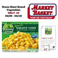 Green Giant Boxed Vegetables ONLY .50 at Market Basket 04/09 ~ 04/15!