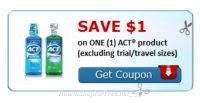 Print this Hot Coupon before it's NLA!!! $1/1 Act product