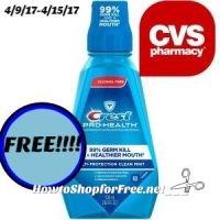 FREE!!!! Free Crest Prohealth Mouthwash at CVS (4/9/17-4/15/17)