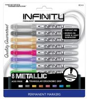 **Amazon Deals** Write Dudes Infinity Metallic Permanent Markers 8-Count Assorted Colors only $4.64!