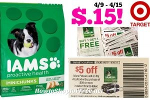 Iams Mini Chunks Dry Dog Food, 15 lb Only $.15 at Target! 4/9 – 4/15