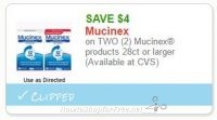 **NEW Printable Coupon** $4.00 off any 2 Mucinex products 28ct or larger