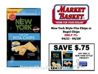 New York Style Pita or Bagel Chips ONLY 75¢ at Market Basket 04/23 ~ 04/29!