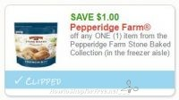 **NEW Printable Coupon** $1.00 off one Pepperidge Farm Stone Baked bread