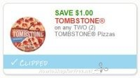**NEW Printable Coupon** $1.00 off any 2 Tombstone
