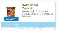 **NEW Printable Coupon** $1.00 off one Tyson Premium Selects Chicken