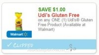**NEW Printable Coupon** $1.00 off one Udi's Gluten Free