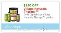 **NEW Printable Coupon** $1.00 off one Village Naturals Therapy