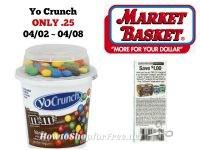 Dannon Yo Crunch Yogurt ONLY .25 at Market Basket 04/02 ~ 04/08!