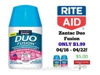 Zantac Duo Fusion ONLY $1.99 at Rite Aid 04/16 ~ 04/22!