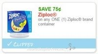 .75/1 Ziploc Container ~HOT Doubler, Print ASAP!