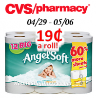 Angel Soft only $.19 a roll at CVS