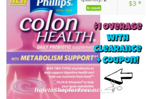 $1 OVERAGE on Phillips' Colon Health Daily Probiotic 24ct @ Walmart!