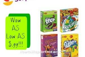 Wow Betty Crocker Fruit Snacks As low as $.99 ea at Stop & Shop(4/7/17-4/13/17)