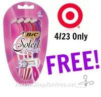 FREE Bic Soleil Razors at Target! 4/23 Only