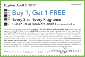 RUN!! BOGO Yankee Candle Coupon ~any size!! (through 4/9)