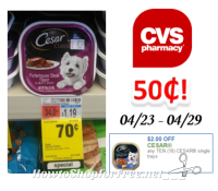 Cesar Dog Food only $.50 at CVS!