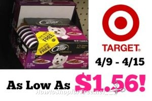 Cesar Wet Dog Food Mulipacks as Low as $1.56 at Target! 4/9 – 4/15